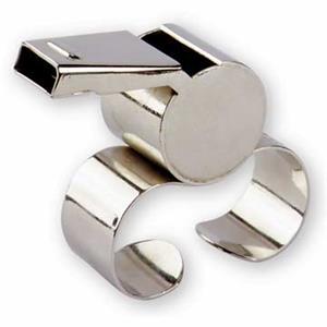Finger Grip Nickel Plated Whistle