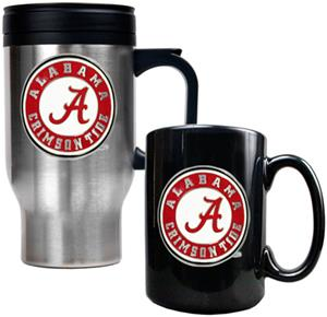 NCAA Alabama Travel Mug & Coffee Mug Set