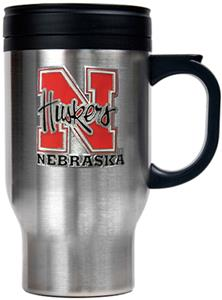NCAA Nebraska Stainless Steel Travel Mug 16oz.