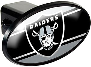 NFL Oakland Raiders Oval Trailer Hitch Cover