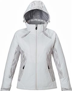 North End Ladies Linear Insulated Jacket W/Print
