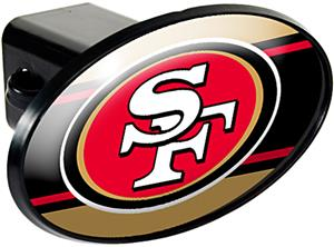 NFL San Francisco 49ers Oval Trailer Hitch Cover