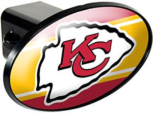 NFL Kansas City Chiefs Oval Trailer Hitch Cover