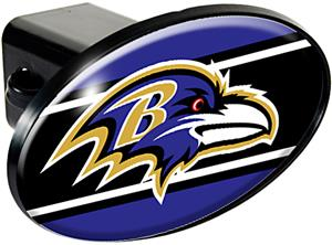 NFL Baltimore Ravens Oval Trailer Hitch Cover