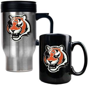NFL Cincinnati Bengals Travel Mug & Coffee Mug Set