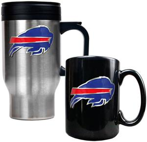 NFL Buffalo Bills Travel Mug & Coffee Mug Set
