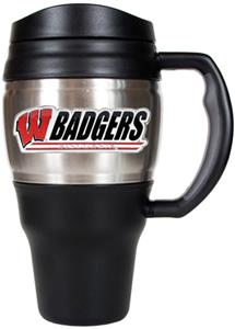 NCAA Wisconsin Badgers Heavy Duty Travel Mug