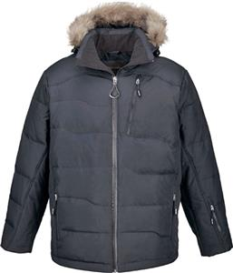 North End Boreal Mens Down Jacket w/Faux Fur Trim