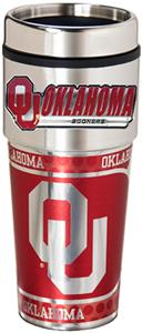 Sooners Travel Tumbler Hi-Def Metallic Graphics