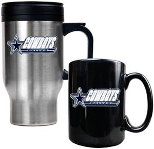 NFL Dallas Cowboys Travel Mug & Coffee Mug Set