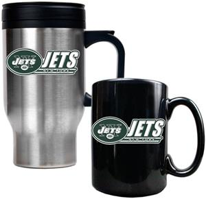 NFL New York Jets Travel Mug & Coffee Mug Set