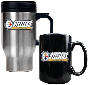 NFL Pittsburgh Steelers Travel Mug & Coffee Mug