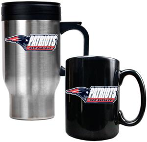 NFL New England Patriots Travel Mug & Coffee Mug