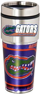 NCAA Gators Travel Tumbler Hi-Def Metallic Graphic