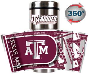 Texas A&M Travel Tumbler Hi-Def Metallic Graphics