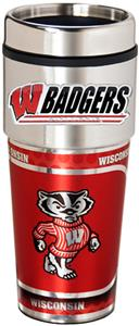 Badgers Travel Tumbler Hi-Def Metallic Graphics