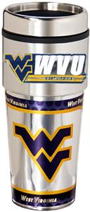 W. Virginia Travel Tumbler Hi-Def Metallic Graphic