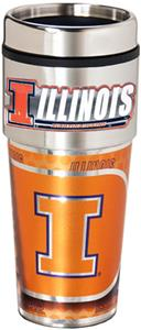 Illinois Travel Tumbler Hi-Def Metallic Graphics