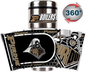 NCAA Purdue Travel Tumbler Hi-Def Metallic Graphic