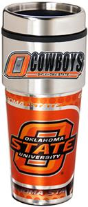 Oklahoma St Travel Tumbler Hi-Def Metallic Graphic