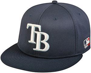 OC Sports MLB Tampa Bay Rays Mesh Home Cap