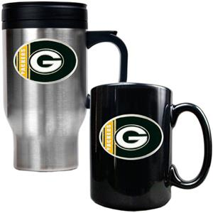 NFL Green Bay Packers Travel Mug & Coffee Mug Set