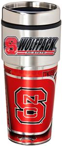 NC State Travel Tumbler Hi-Def Metallic Graphics