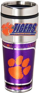 Clemson Travel Tumbler Hi-Def Metallic Graphics