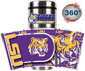 NCAA LSU Travel Tumbler Hi-Def Metallic Graphics