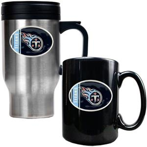 NFL Tennessee Titans Travel Mug & Coffee Mug Set