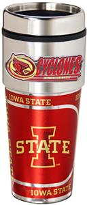 Iowa State Travel Tumbler Hi-Def Metallic Graphics