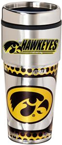 NCAA Iowa Travel Tumbler Hi-Def Metallic Graphics