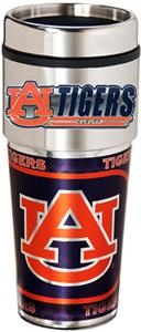 NCAA Auburn Travel Tumbler Hi-Def Metallic Graphic