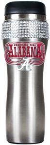 NCAA Alabama Stainless Steel Bling Travel Tumbler