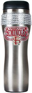 Florida State Stainless Steel Bling Travel Tumbler
