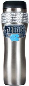 Tar Heels Stainless Steel Bling Travel Tumbler