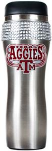 NCAA Aggies Stainless Steel Bling Travel Tumbler