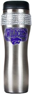Kansas State Stainless Steel Bling Travel Tumbler