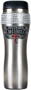 Texas Tech Stainless Steel Bling Travel Tumbler