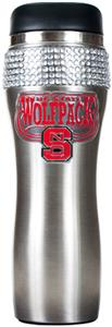 Wolf Pack Stainless Steel Bling Travel Tumbler