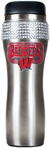 Wisconsin Stainless Steel Bling Travel Tumbler