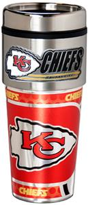 NFL Kansas City Chiefs Tumbler w/ Metallic Wrap