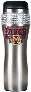 Iowa State Stainless Steel Bling Travel Tumbler