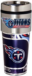 NFL Tennessee Titans 16oz Tumbler w/ Metallic Wrap