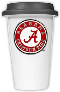 NCAA Alabama Double Wall Ceramic Tumbler