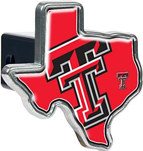 NCAA Texas Tech Texas Shaped Trailer Hitch Cover