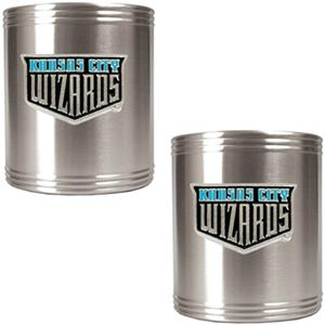 MLS Kansas City Sport 2pc Stainless Can Holder Set