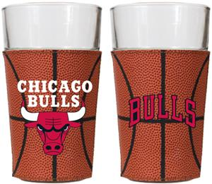 NBA Chicago Bulls 2pc 16oz GameBall Pint Glass Set