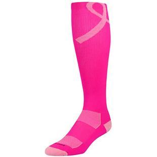 Twin City Pink Aware Over Calf Socks - Lg Ribbon