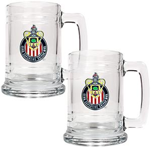 MLS Club Deportivo Chivas 2pc Glass Tankard Set